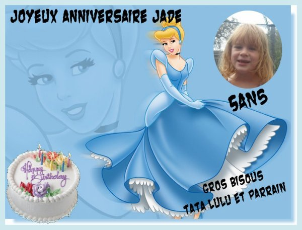 anniversaire de ma petite fille jade qui eu 5 ans ce lundi 11 f vrier 2013 bridinette. Black Bedroom Furniture Sets. Home Design Ideas