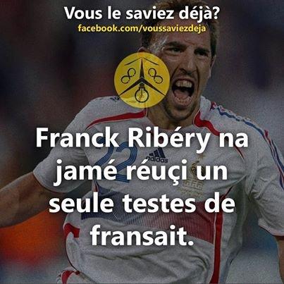 Franck Ribéry seulement bon au foot