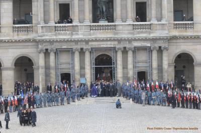 La messe aux Invalides : Messieurs Sarkozy et Chirac