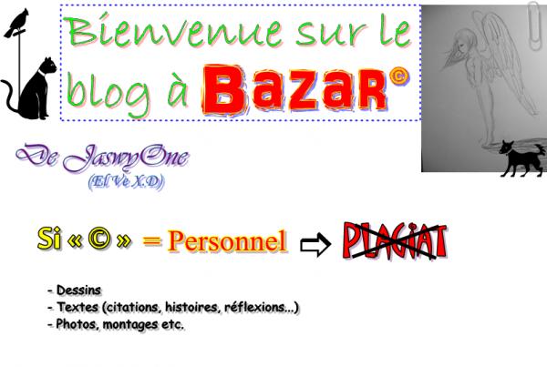 Bienvenue sur le blog à Bazar