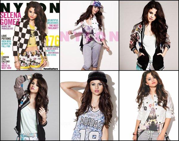 Selena fait la couverture du magazine ''Nylon'' du mois de septembre.