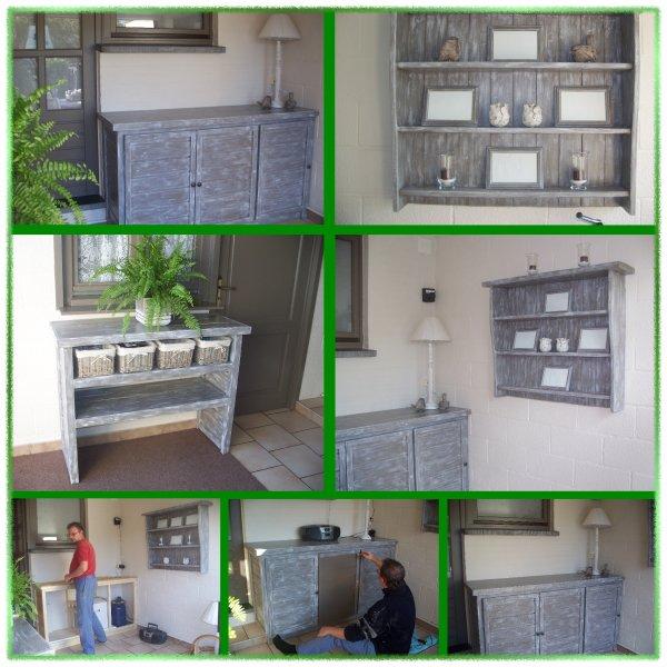 meubles fait maison avec pas mal de bois. Black Bedroom Furniture Sets. Home Design Ideas