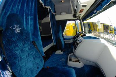 Daf xf cabine futur routier en groupage messagerie chez for Camion americain interieur cabine