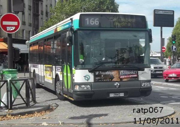 Ligne 166 renault agora s n 2840 porte de clignancourt m tro blog de ratp067 - Metro porte de clignancourt ...