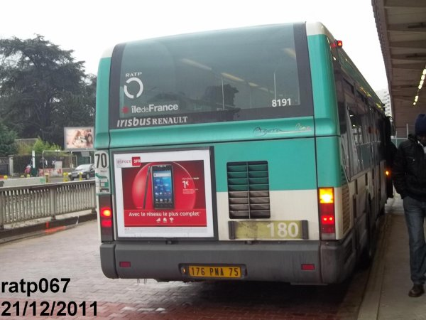 Ligne 180 bus irisbus renault agora line vf n 8191 blog - Ligne 118 bus ...