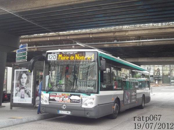 Habillage ligne 120 bus irisbus iveco citelis 12 stif ratp - Ligne 118 bus ...