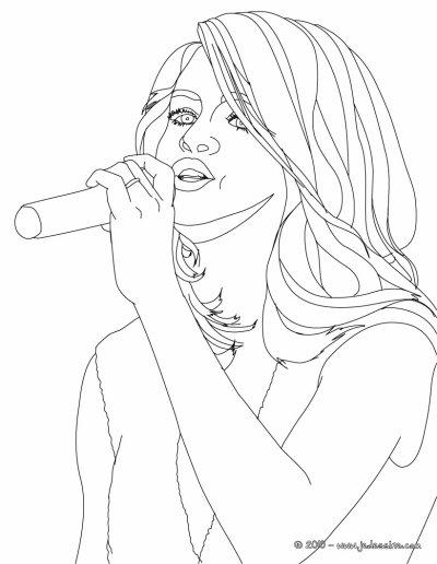 Coloriage-Selena Gomez - Blog de people-selenagomez