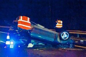 Violent accident sur l'autoroute � Thimister: un jeune homme �ject� de sa voiture