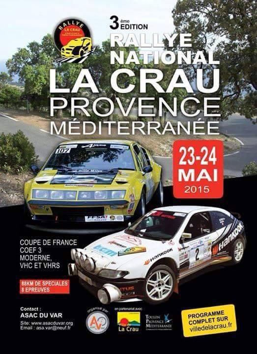 Rallye de la Crau N  23/24 mai  une �preuve vhc/vhrs � ne pas manquer!!