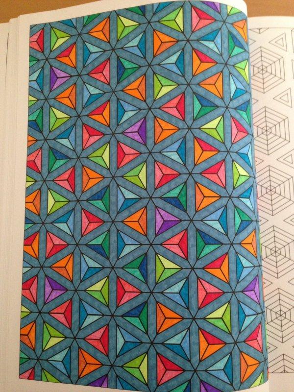 Illusions d 39 optique et kal idoscope art th rapie 100 - Coloriage illusion d optique ...