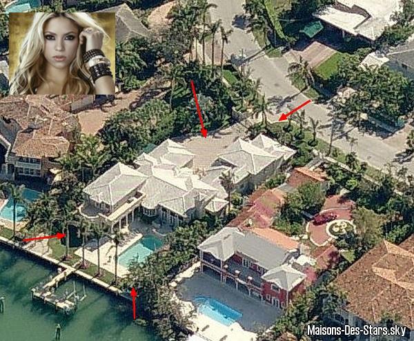 Shakira blog de maisons des stars for Los angeles maison de star