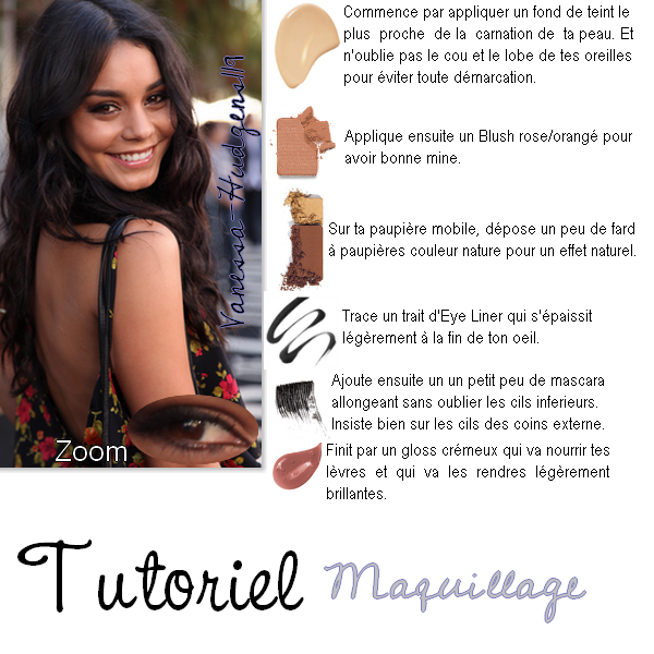 Zoom sur le Make-up de Vanessa Hudgens ... :)