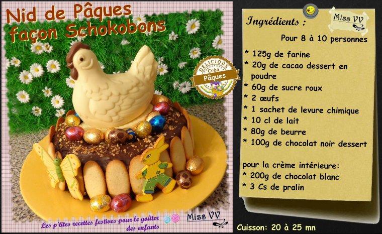 Nid de paques schokobons pour les enfants les p 39 tites recettes gourmandes de miss vv des - Recette nid de paques au moka ...