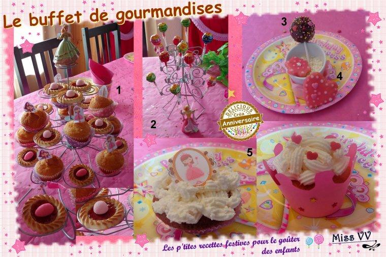 anniversaire de princesse pour les enfants les p 39 tites recettes gourmandes de miss vv des. Black Bedroom Furniture Sets. Home Design Ideas
