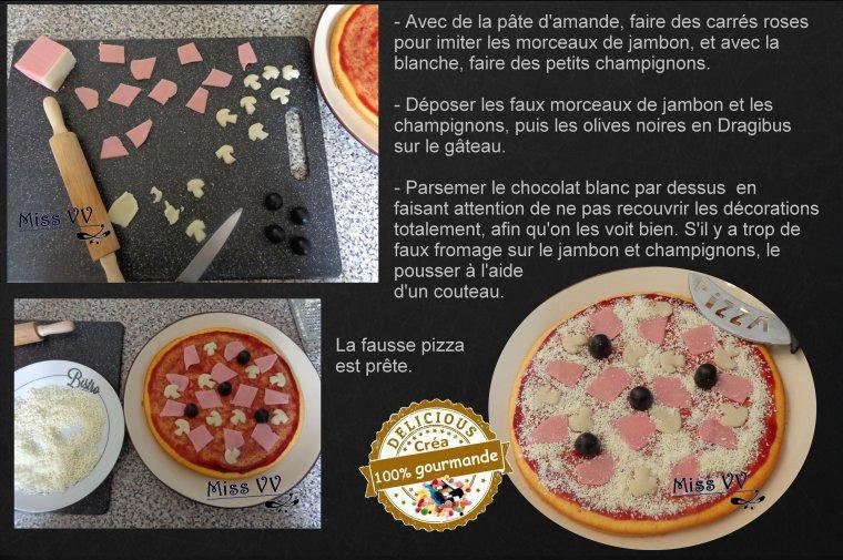 """GATEAU """"PIZZA"""" ( POUR LES ENFANTS )"""