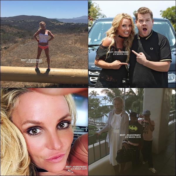 . Nouvelles photos de Britney post�es par la belle sur son compte Instagram. .