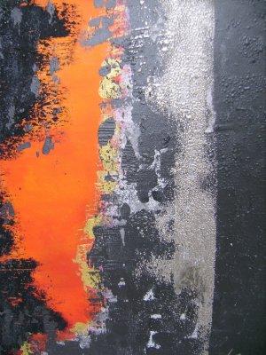 Peinture technique mixte sur toile