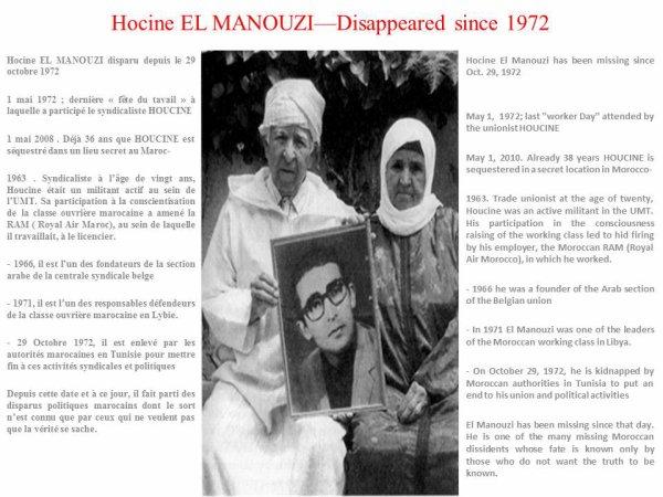 Houcine El Manouzi - disappeared since 1972