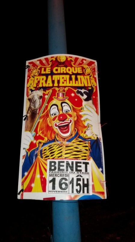 cirque fratellini a Benet 85