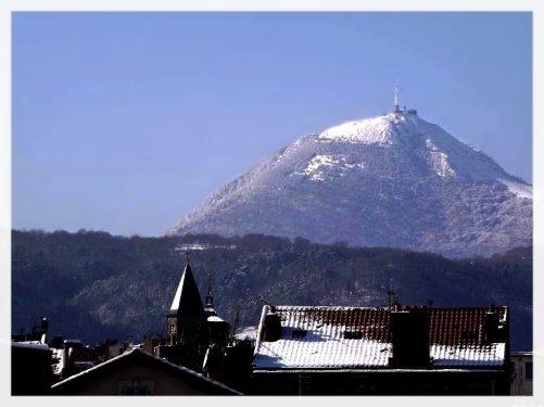 Le Puy de Dome sous la neige :