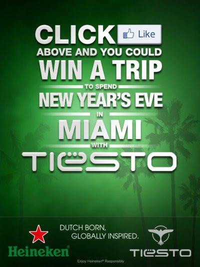 Cliquez comme dessus et vous pourriez gagner un voyage à Miami avec Tiesto