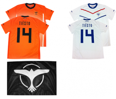 Présentation Le Bundle Merch Orange! Tiësto officiel et maillots de football drapeau!