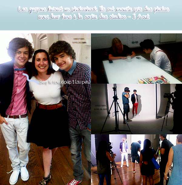 Photoshoot des 1D & Photo Facebook