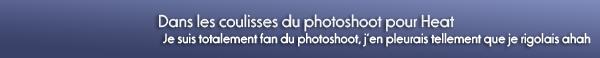 Backstage d'un photoshoot + Photos twitter