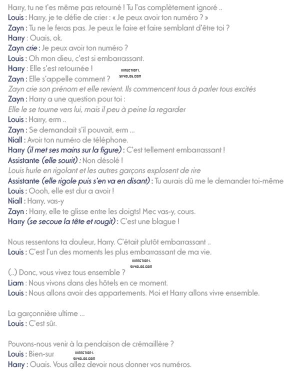 Interview des garçons