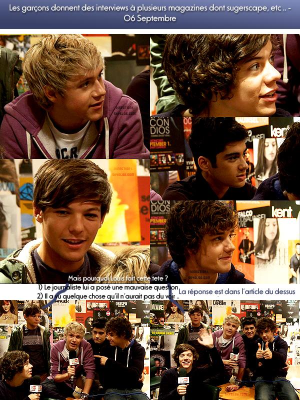 Les garçons répondent à des questions + GQ Awards 2011