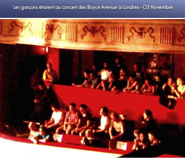 Concert + Zayn + Photoshoot + Vidéo des garçons à l'hopital