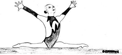 Un dessin de gym l 39 univers de la gym - Dessin gymnaste ...