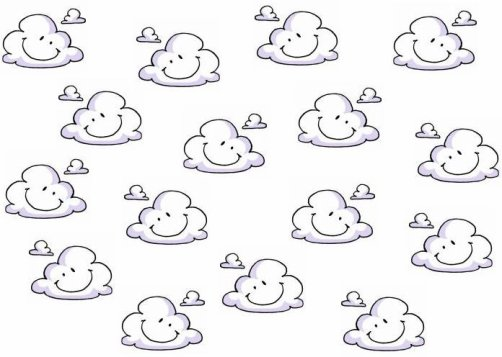 Petit nuage version dessin anim arri re plans pour blogs - Dessin de nuage ...