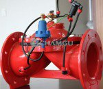 What are the flowing characteristics for the water valve equipments?