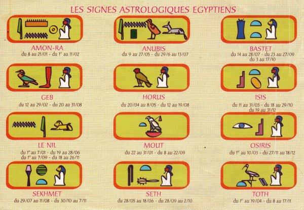 les signes astrologique egyptiens blog de lili egypte antique. Black Bedroom Furniture Sets. Home Design Ideas
