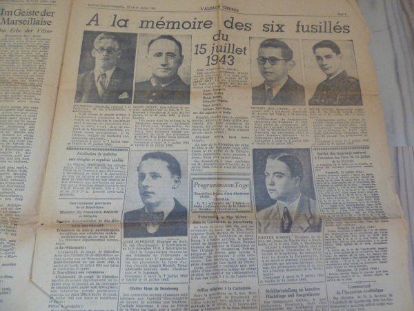 Groupe de R�sistant Front de la Jeunesse d'Alsace 1941-1943