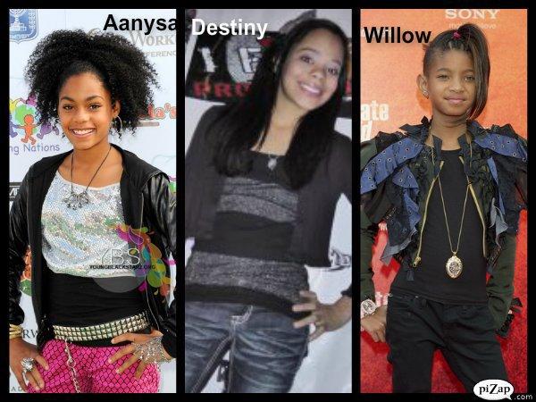Destiny Underwood, Willow Smith et Aannysa Hafiz, quels points communs? Quels différences?