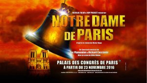 Notre Dame de Paris au Zénith Aréna de Lille les 3 et 4 novembre 2017