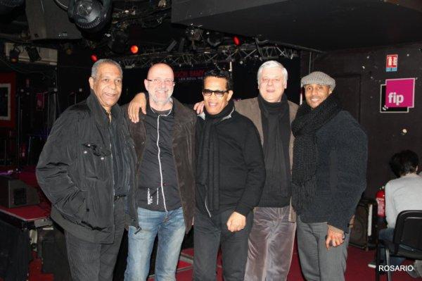Les copains d'abord , Erick Bamy , Rosario  , Vigon  , José et Jay ( le News Morning Paris )