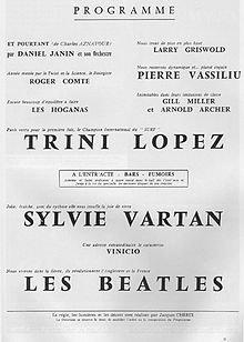 Dimanche 19 Janvier 1964 une affiche de L' Olympia qui fait rêver .