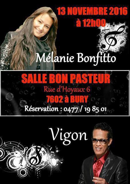 Concert live du 13 Novembre 2016 chez nos amis Belges   , ne plus réserver c'est complet  MERCI  , José .