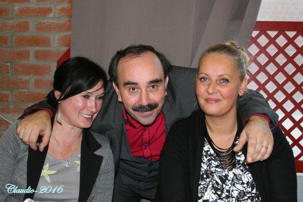 Une bien belle soirée, la suite , la Patronne du P M U de Vieux - Condé , Claudio et Nathalie Razi .