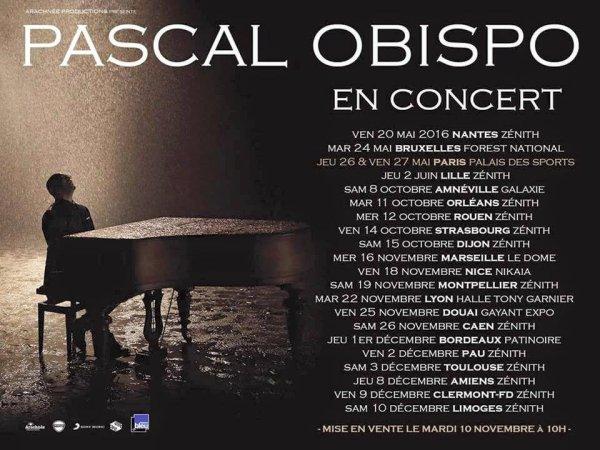 Les dates de la nouvelle tourn�e d' @ObispoPascal sont d�voil�es #LeSecretPerdu