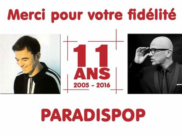 @Paradispop f�te ses 11 ans aujourd'hui - @ObispoPascal