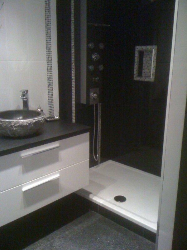 R alisation d 39 une salle de bain carrelage mosaique pose - Pose de carrelage salle de bain ...
