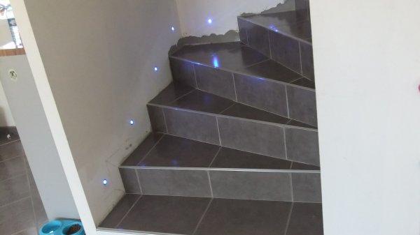 La mont e des escalier sans les plinthes mais avec mes petites led bleu merci - La montee des escaliers ...