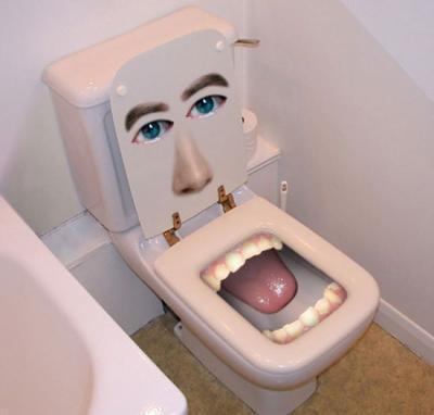 La photo de cette fillette debout sur des toilettes choque les États Unis !