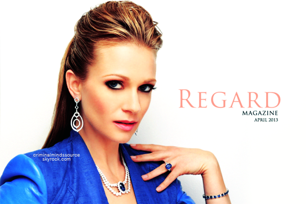 * Avril 2013 Nouvelle photo d'AJ Cook pour Regard Magazine *