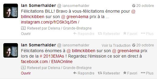 ian a twitter le 20 octobre 2013
