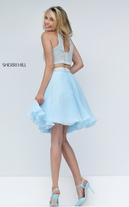 Chiffon Sherri Hill Two Piece Short Prom Dress 50179